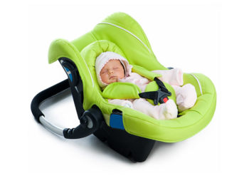 Rear-facing Car Seat with Baby